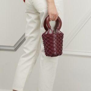 STAUD Mini Moreau leather Bag